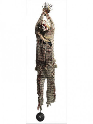 beleuchtete halloween dekoration gefangener zombie zum. Black Bedroom Furniture Sets. Home Design Ideas