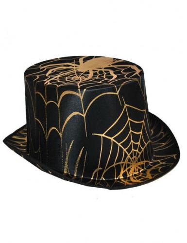 Schwarz/ Goldener Zylinder für Erwachsene Halloween