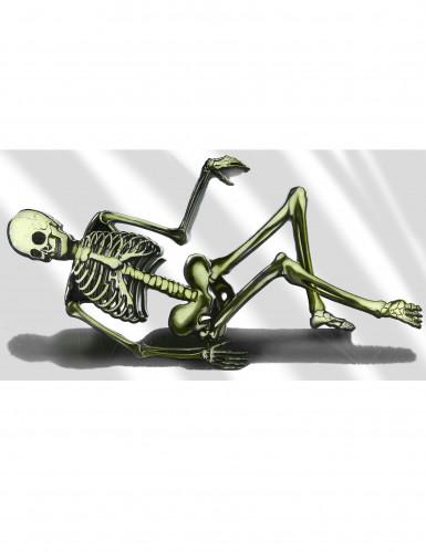 Halloween-Dekoration Sofa-Skelett aus Kunststoff, 75 x 150 cm