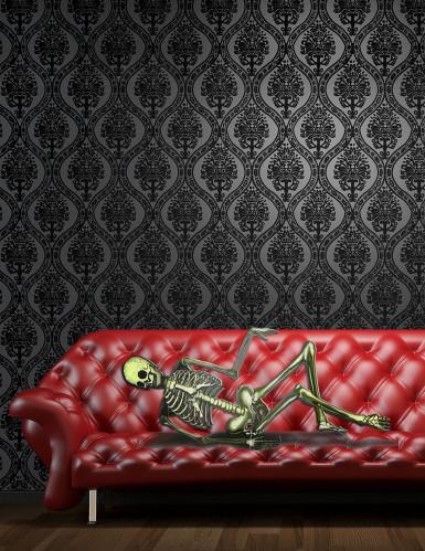 Halloween-Dekoration Sofa-Skelett aus Kunststoff, 75 x 150 cm-1