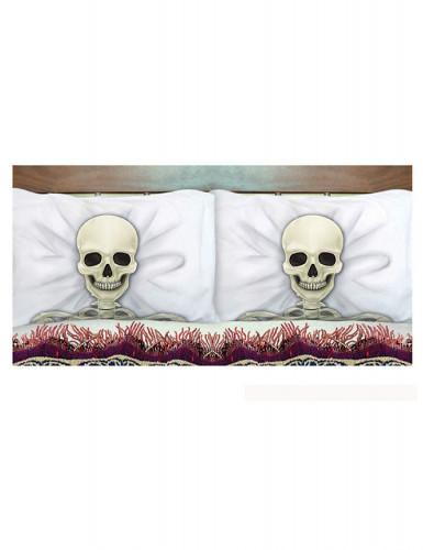 2-teiliges Kissenhüllen-Set Halloween-Skelett 53 x 81 cm