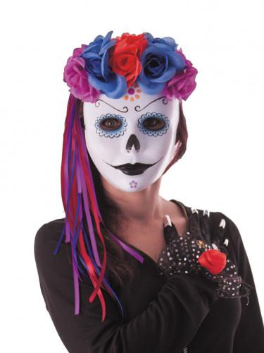 Accessoire Stirnband Dia de los muertos für Erwachsene