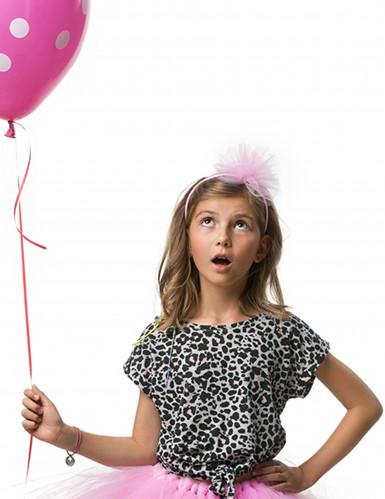 Haarreif mit Tüllschleife für Mädchen - hellrosa-1