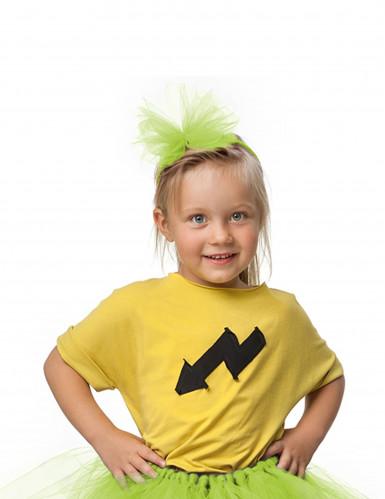 Haarreif mit Tüllschleife für Mädchen - neongrün-1