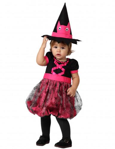 Pinkes Hexenkostüm für Kleinkinder