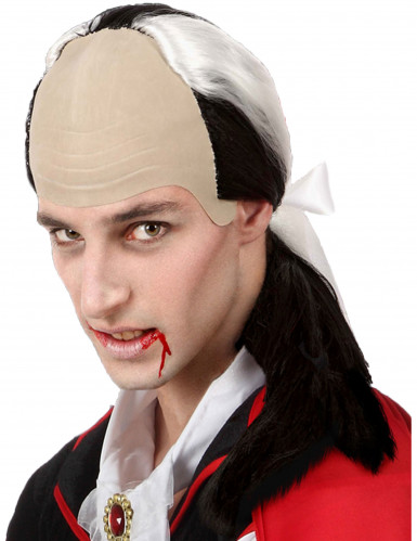 Vampir Perücke hohe Stirn für Herren