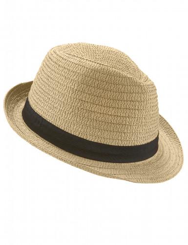 Hübscher Strohhut für Erwachsene mit schwarzem Band