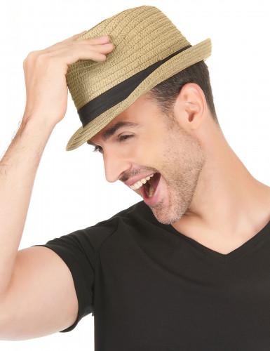 Hübscher Strohhut für Erwachsene mit schwarzem Band-2