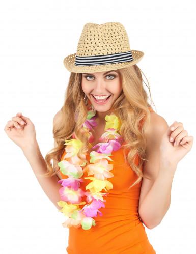 Sommerlicher Borsalino-Strohhut für Erwachsene beige-1