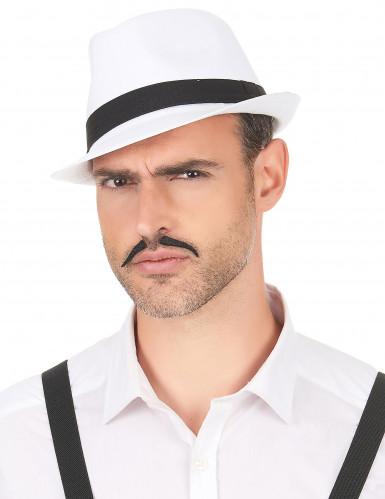 Weißer Borsalino-Hut mit schwarzem Band-2