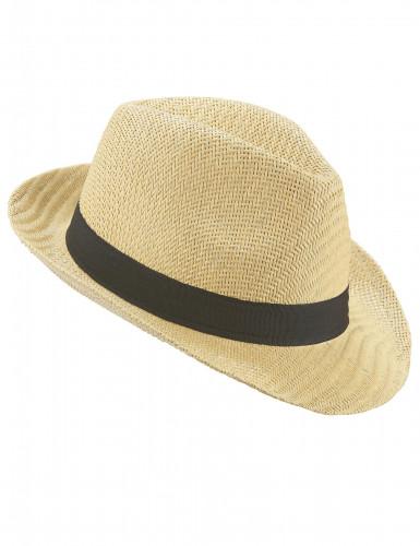 Borsalino-Hut für Erwachsene mit schwarzem Band