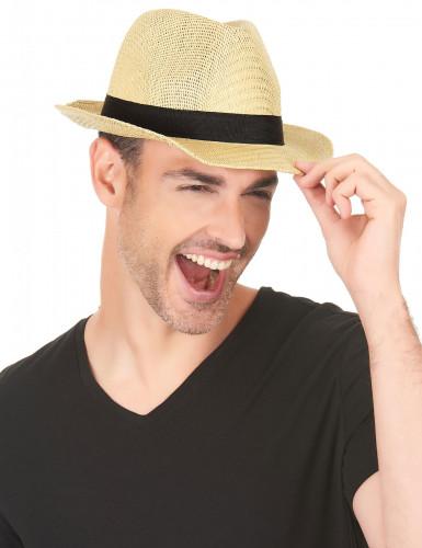 Borsalino-Hut für Erwachsene mit schwarzem Band-2