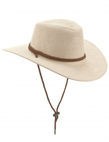 Beiger Cowboy-Hut aus Wildlederimitat
