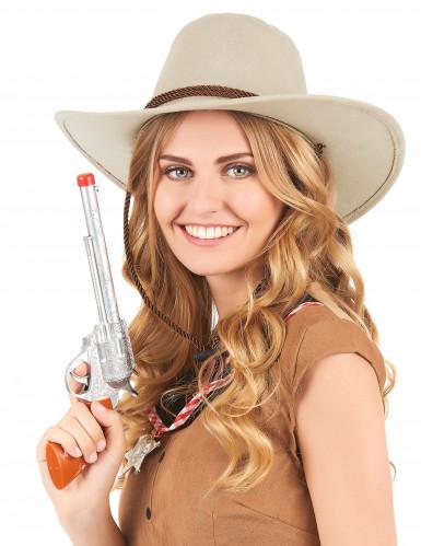 Beiger Cowboy-Hut aus Wildlederimitat-1