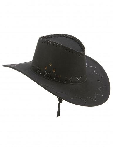 Schwarzer Cowboy Hut für Erwachsene