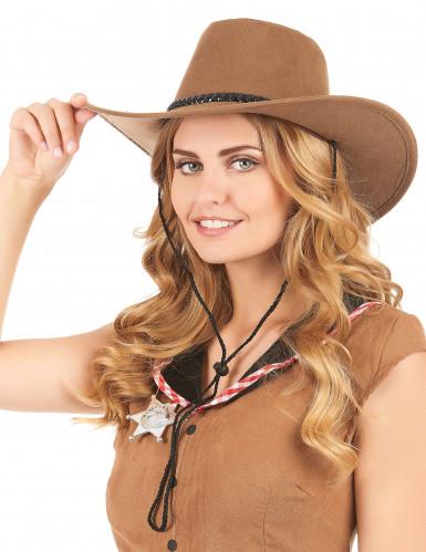 Cowboy-Hut aus Wildlederimitat-1