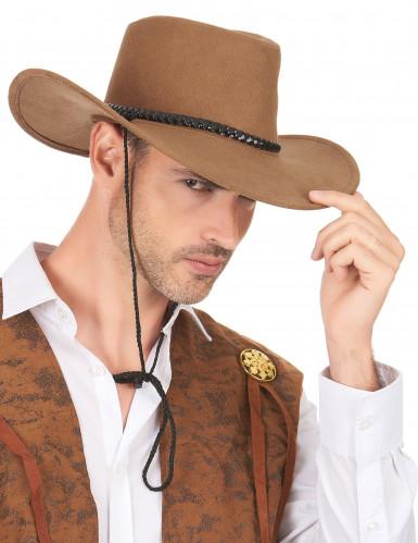 Cowboy-Hut aus Wildlederimitat-2