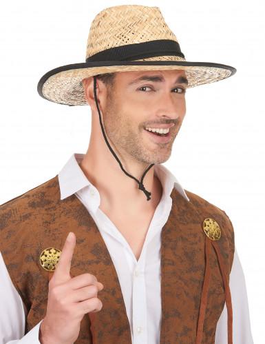 Cowboy-Hut mit schwarzem Band für Erwachsene-1