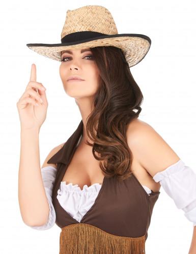 Cowboy-Hut mit schwarzem Band für Erwachsene-2