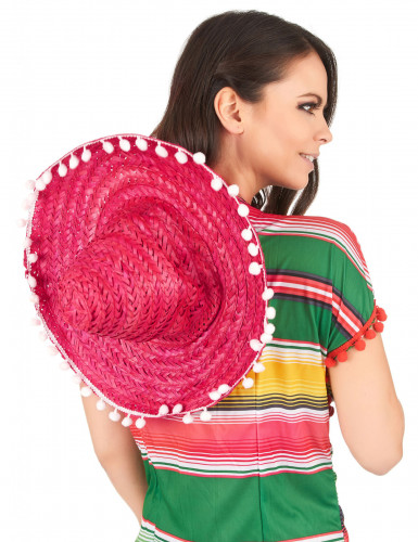 Roter Sombrero mit Bommeln-2