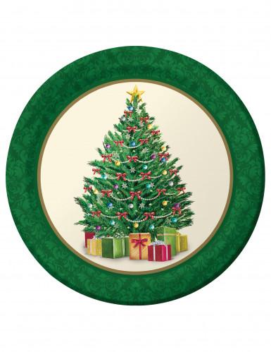 8 Weihnachtsteller 23 cm