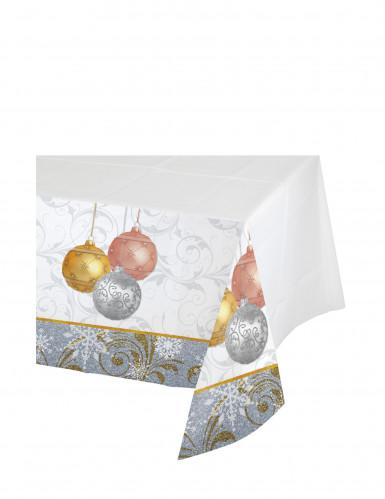 Kunststoff-Tischdecke Weihnachtskugeln