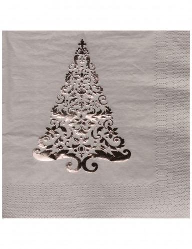 16 Tannenbaum Papier-Servietten 33 x 33 cm
