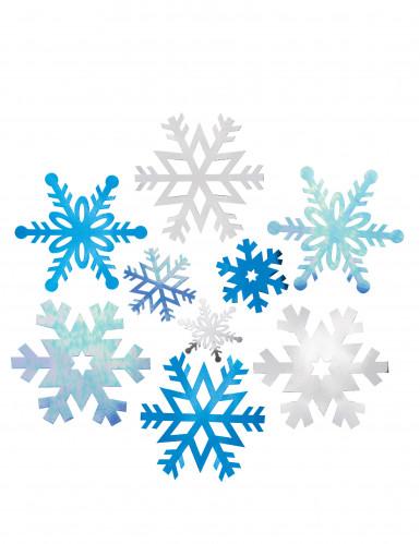 12 große Schneeflocken zum Aufhängen