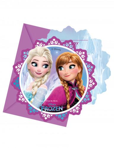 6 Eiskönigin™ Einladungskarten mit Umschlägen