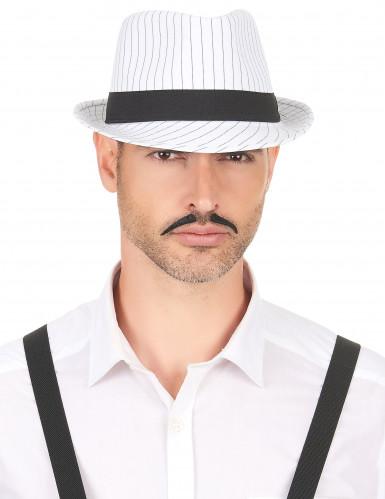 Weißer Gangster-Hut für Erwachsene-2