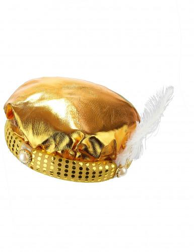 Sultan Turban-Mütze für Erwachsene gold