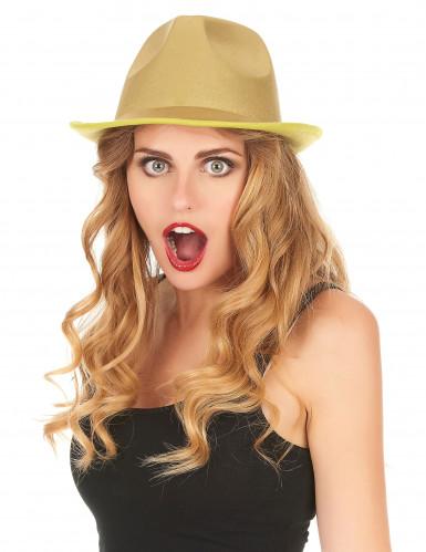 Borsalino Party-Hut für Erwachsene gold-1