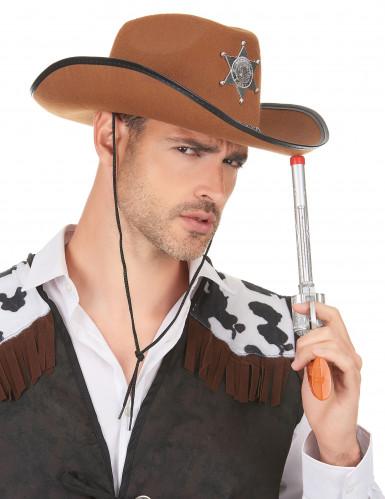 Cowboyhut Sheriff für Erwachsene braun-2