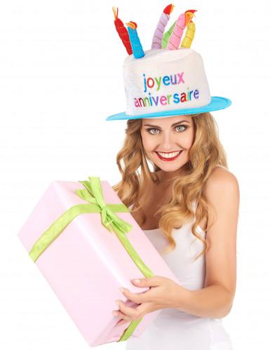 Hut Joyeux Anniversaire für Erwachsene