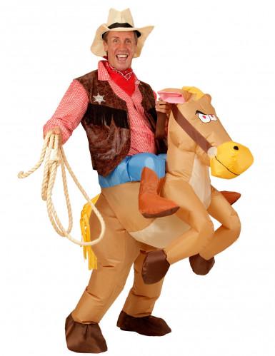 Western Pferd Aufblasbares Kostüm für Erwachsene