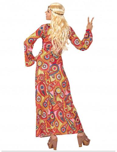 Langes Hippie-Kostüm für Damen-1