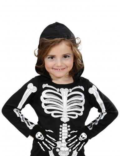 Halloween Handschuhe mit Knochenmotiv für Kinder-1