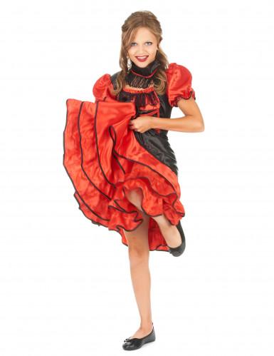Cancan Tänzerinnen Kostüm für Kinder
