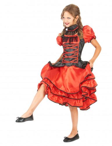 Cancan Tänzerinnen Kostüm für Kinder-1