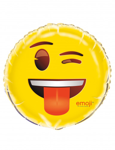 Aluminium-Ballon Emoji™ gelb