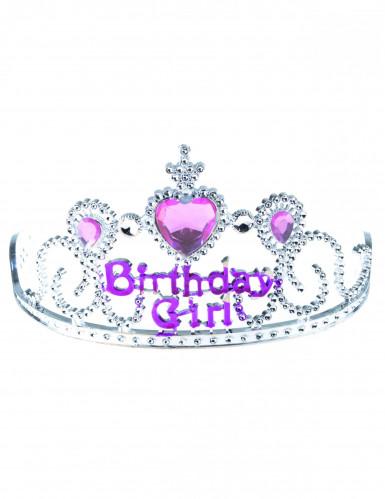 Birthday Girl Krone für Kinder rosa-silber