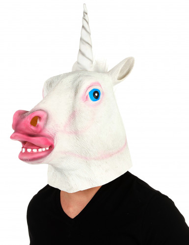 Latex Maske Einhorn für Erwachsene