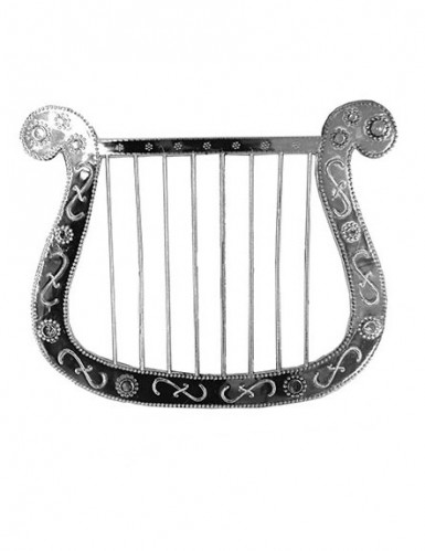 Kleine silberne Harfe 28cm
