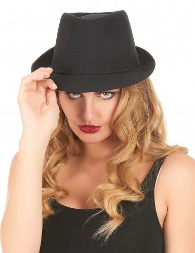 Schwarzer Borsalino Hut für Erwachsene-1