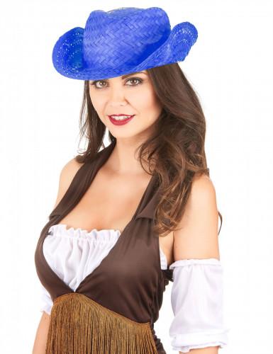 Blauer Cowboyhut für Erwachsene-1