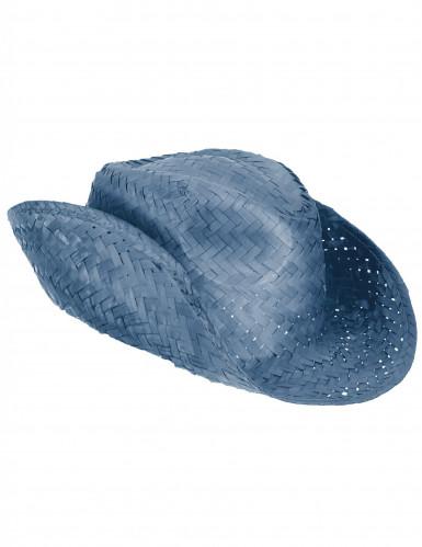 Blauer Cowboyhut für Erwachsene-2