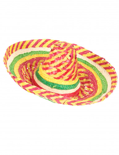 Mexikaner Sombrero Tutti Frutti für Erwachsene