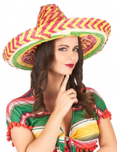 Mexikaner Sombrero Tutti Frutti für Erwachsene-2