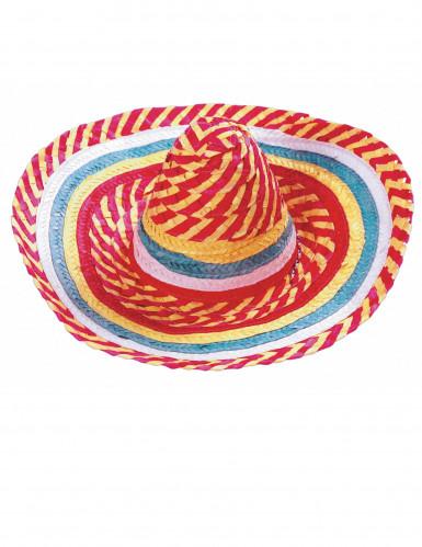 Mexikaner Sombrero Tutti Frutti für Erwachsene-1