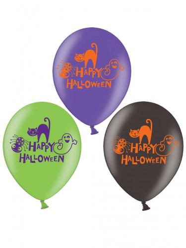 6 Luftballons Happy Halloween